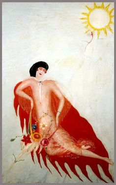 Florine Stettheimer, Portrait of Myself, 1923 #painting