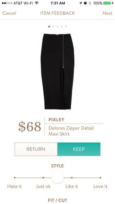Pixley Delores Zipper Detail Maxi Skirt I love Stitch Fix! Personalized styling service and it's amazing!! Fill out a style profile with sizing and preferences. Then your very own stylist selects 5 pieces to send to you to try out at home. Keep what you love and return what you don't. Try it out using the link! #stitchfix https://www.stitchfix.com/referral/5634870