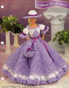Crochet Barbie Fashion Doll Pattern COTILLION HOOP by SureShopping, $4.95