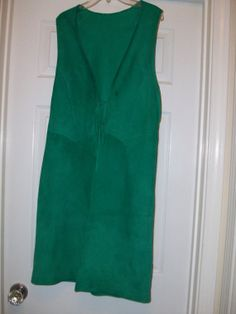 Vintage Green Leather Indian Dress Size ML 20 OFF  by MICSJWL, $16.00