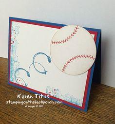 masuline cards - SU - CAS - baseball - Timeless Textures