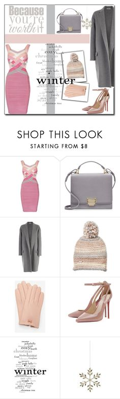 """Snowflake ! (formal)"" by emapolyvore ❤ liked on Polyvore featuring Smythson, CÉLINE, Steve Madden, Ted Baker, WALL, Shishi, dress, celine, jacket and coat"