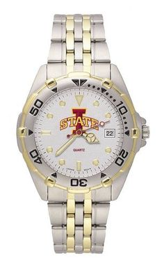 Iowa State Cyclones Men's All Star Watch Stainless Steel Bracelet by Logo Art. $69.99