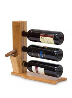I would change the cork screw holder to a hole in the top, but Yea, I like it. Bottle Rack, Wine Bottle Holders, Wine And Liquor, Wine And Beer, Palette Deco, Wood Wine Racks, Wine Decor, Wood Creations, Wooden Gifts