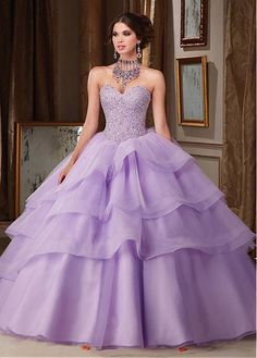 Delicate Organza & Tulle Sweetheart Neckline Ball Gown Quinceanera Dresses With Beadings
