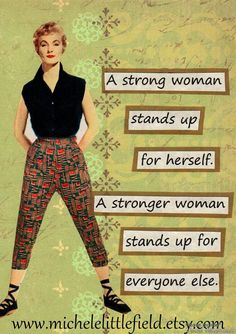 A Strong Woman Greeting Card by MicheleLittlefield on Etsy