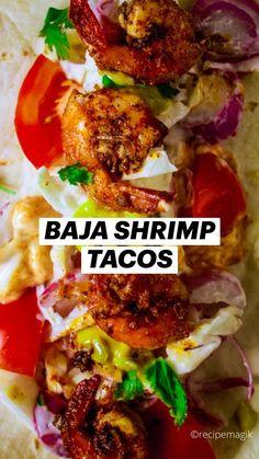 Mexican Shrimp Recipes, Shrimp Recipes For Dinner, Mexican Dinner Recipes, Shrimp Recipes Easy, Taco Ideas For Dinner, Mexican Dinners, Shrimp Taco Recipes, Mexican Chicken, Clean Recipes