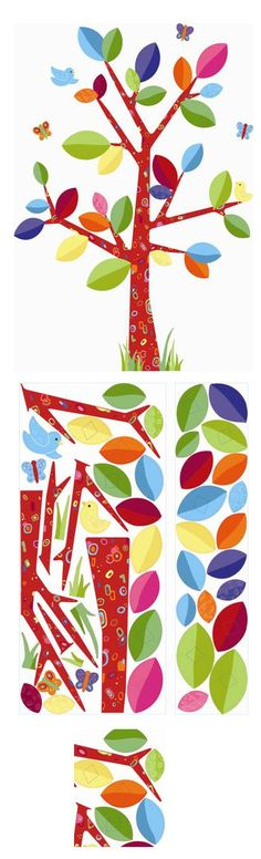 Colorful Family Tree Wall Sticker - Wall Sticker Outlet