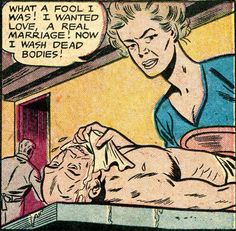 "hahaha that's what happens when you want things. . . ""Now I wash bodies!"""