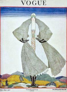 Vogue UK Cover - June 1920 - Style: Art Deco