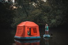 Floating Tent: Pole-Free Inflatable Structure Pops Up in Minutes... #weburbanist #arts #street_art