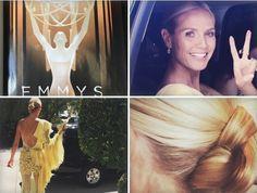 Beautiful Heidi Klum ready for the Emmy Awards 2015 . Hair by our creator Wendy Iles