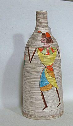 Bitossi by Fratelli Fanciulacci mid century sgrafitto Egyptian vase - $75