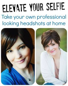 DIY Headshots - Elevate your selfie! Learn how to take your own professional looking headshots at home. #photography #tutorial