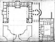 Le rez de chaussée du château vieux de Meudon