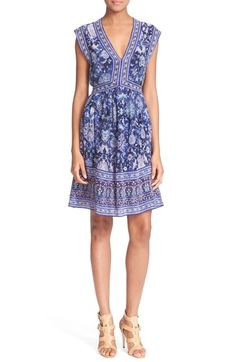 Rebecca Taylor Print Silk Dress available at #Nordstrom
