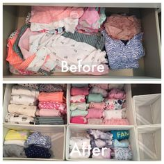 Leah Nursery — Organizing by Allison Baby Fancy Dress, Baby Girl Dresses, Nursery Dresser, Nursery Room, Baby Storage, Cute Baby Shower Gifts, Baby Suit, Nursery Organization, Organic Baby Clothes