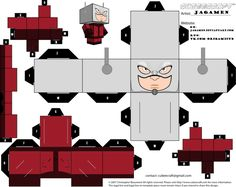 Ant-man Cubeecraft by JagaMen Halloween Coffin, Halloween Doll, Halloween Masks, Ant Man Toys, Origami Naruto, Minion, Paper Cube, Paper Folding Crafts, Paper Box Template
