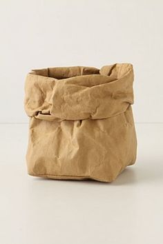 washable paper bag from Anthropologie.