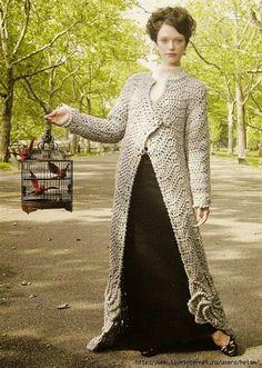 Crochet by Jane: MORE LONG COATS - MAIS CASACOS LONGOS