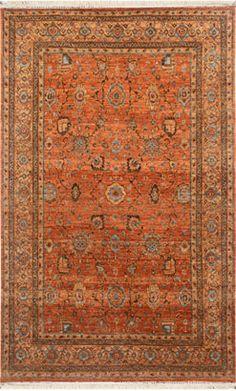 Living Room - Orange rug with Blue