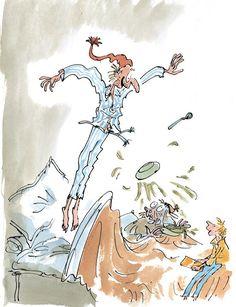 Vintage Illustration Art, Children's Book Illustration, Book Illustrations, Chris Riddell, Quentin Blake Illustrations, Charlie Chocolate Factory, Roald Dahl Books, Great Works Of Art, Whimsical Art