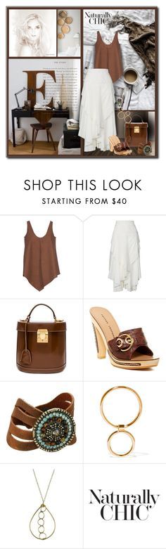 """""""Brown and White for Summer"""" by sheryl-lee ❤ liked on Polyvore featuring STELLA McCARTNEY, Kitx, Mark Cross, Chinese Laundry, Leatherock and Sarah & Sebastian"""
