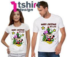 571451cafc8 Merry Christmas My Love Disney Matching Shirts Christmas disney couple  shirts Disney New Year Eve Shirts Valentines Day tees Honeymoon tees