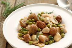 Ricetta #Padellata di #pollo e #castagne con Piselli Fini Cirio e Olio di Oliva Cirio