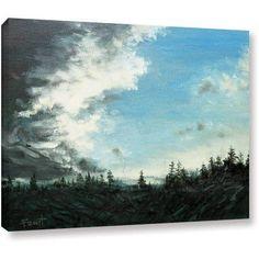 ArtWall Gene Foust Gloom Gallery-Wrapped Canvas Art, Size: 14 x 18, Green