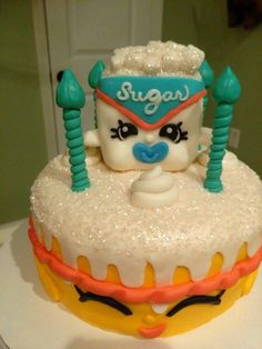 Sugar Lump bday cake from Paige! #SPKBirthday #Shopkins #ShopkinsWorld #SugarLump