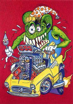 Rat Fink Ed Big Daddy Roth - Joker Rat