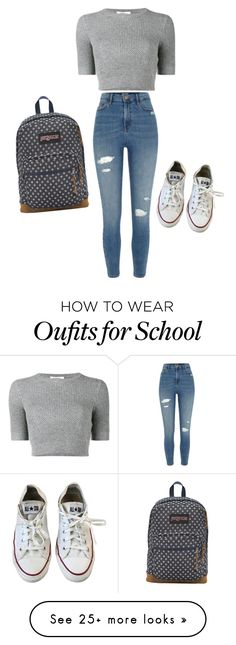 """""""anita"""" by abald on Polyvore featuring Valentino, River Island, Converse and JanSport"""