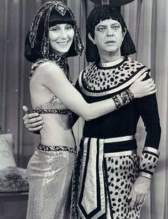 Photo of Cher and Don Knotts from the television program The Sonny and Cher Show. 1976    Cher's birthdate: May 20