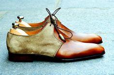Mens Suede Boots, Suede Shoes, Men's Shoes, Shoe Boots, Dress Shoes, Spectator Shoes, Gentleman Shoes, Style Masculin, Wingtip Shoes