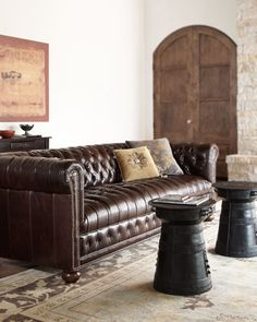 """Royal 66"""" Sofa by Old Hickory Tannery at Horchow."""