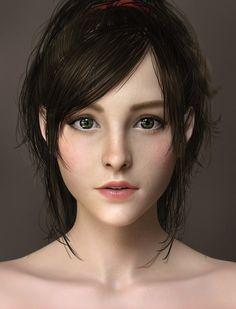 Character Design Cartoon, 3d Model Character, Character Modeling, Character Design Inspiration, Character Art, Zbrush Character, 3d Portrait, Digital Portrait, Girl Face