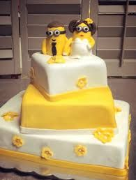 Minion Inspired Wedding Cake Topper   Personalized Fondant Minion     Minion Inspired Wedding Cake Topper   Personalized Fondant Minion Wedding  Cake Topper   Wedding Ideas   Pinterest   Wedding cake  Wedding and Weddings