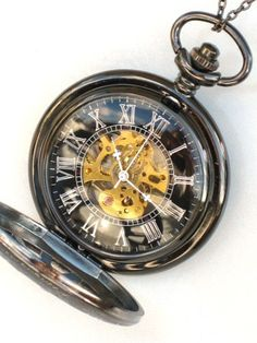 Steampunk  DARK WINDOWS in TIME Pocket Watch  by GlazedBlackCherry, $44.99