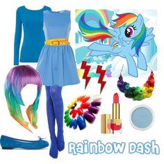 pony-rainbowdash by thelovelyside, via Polyvore