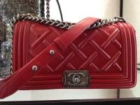 Chanel Red Boy Bag #chanel #handbags