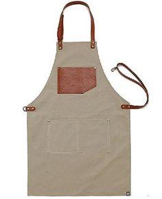 Livraison gratuite de cadeau pour femme et homme chef Works Tablier fait main japonais Croix arrière - Tablier toile Corde en cuir marron clair