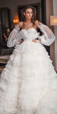 Wedding Dresses Wedding Dresses Fall See The New Trends ❤️ wedding dresses fall 2019 ball gown ruffled skirt detached sleeves millanova Western Wedding Dresses, Wedding Dress Trends, Princess Wedding Dresses, Best Wedding Dresses, Bridal Dresses, Wedding Gowns, Ball Dresses, Ball Gowns, Dresses Dresses