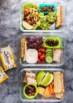 These easy bistro lunch boxes can be prepared ahead of time for an easy grab and go lunch! Tons of options so you never get bored.