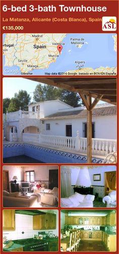 Townhouse for Sale in La Matanza, Alicante (Costa Blanca), Spain with 6 bedrooms, 3 bathrooms - A Spanish Life Murcia, Alicante, Valencia, Gazebo, Pergola, American Kitchen, Spacious Living Room, Large Bedroom, Maine House