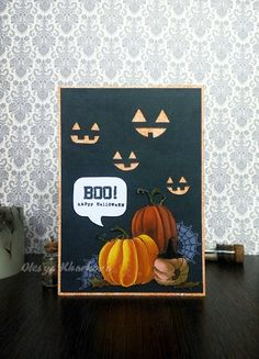 As if by magic by Olesya Kharkova Halloween Cards, Halloween Themes, Pumpkin Images, Mo Manning, Pretty Cards, Dream Team, Thank You Cards, Your Cards, Card Making