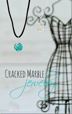Cracked Marble Jewelry tutorial - Making your own bling at home is quick, easy and a fraction of the cost.