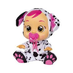 Poor little Cry Baby Dotty! Give her the dummy and a cuddle to stop her from crying. She cries real water, makes baby noises and come with a special packet of tissues for mopping u Little Girl Toys, Baby Girl Toys, Little Girls, Toy Cars For Kids, Toys For Girls, Kids Toys, Baby Dolls, Doll Toys, Disney Princess Toys