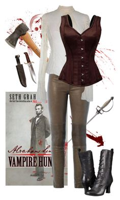 """Abraham Lincoln: Vampire hunter"" by amygreene-1 ❤ liked on Polyvore featuring J Brand, Miz Mooz, women's clothing, women, female, woman, misses and juniors"