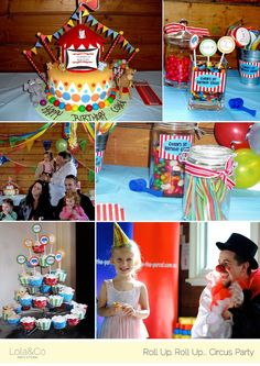 Circus b-day party...great for a boy or girl!